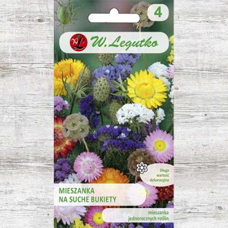 Flori pentru buchete uscate, mix multicolor